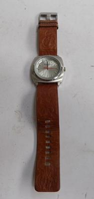 Gents Diesel watch with leather strap