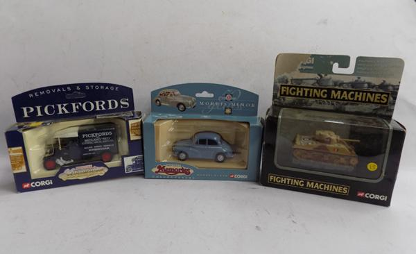 3 corgi boxed vehicles