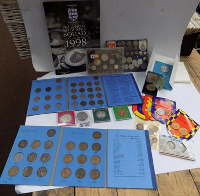 Box of foreign coin sets