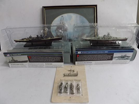 2 collectable battleships and other collectables