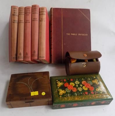 Selection of vintage items incl. books and treen