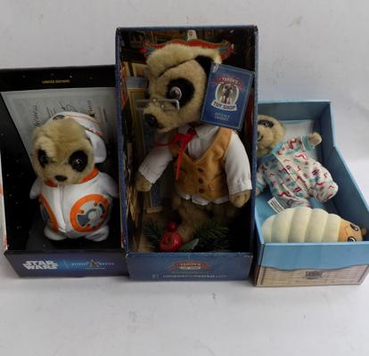 3x Meerkats incl. limited edition and Yakov