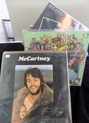 Box of LPs incl: Kinks, McCartney, Bowie