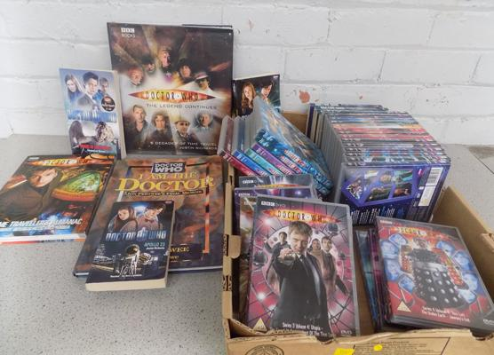 31x Dr Who DVD's - incl. Xmas specials and various books