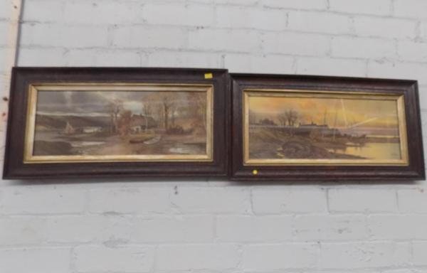 Pair of ornate framed pictures