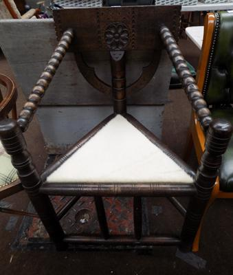 African antique corner chair