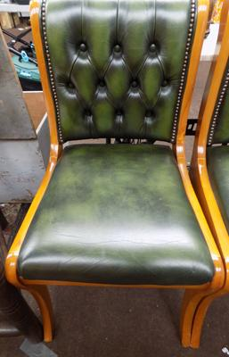 Leather button back Chesterfield style chair