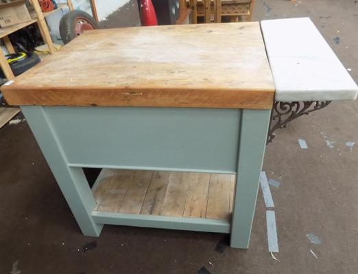 Large butchers kitchen island