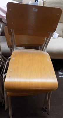 Set of four vintage school chairs