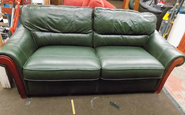 2 seater leather sofa