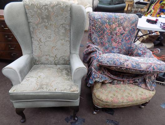 2 fireside chairs for restoration
