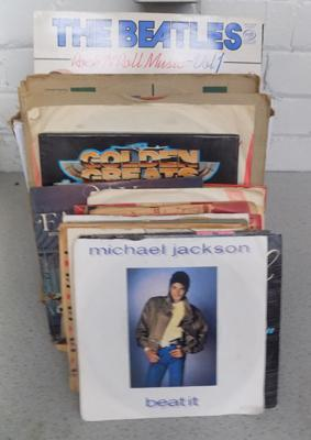 Box of assorted LP's and singles