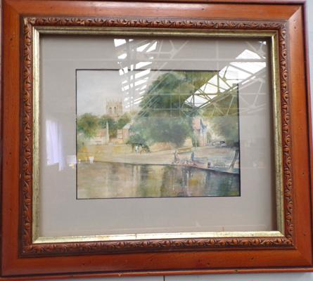 Framed watercolour - unknown artist