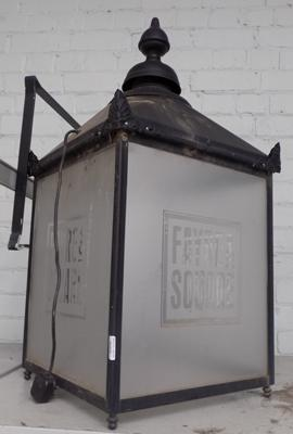 Large outdoor lantern with bracket