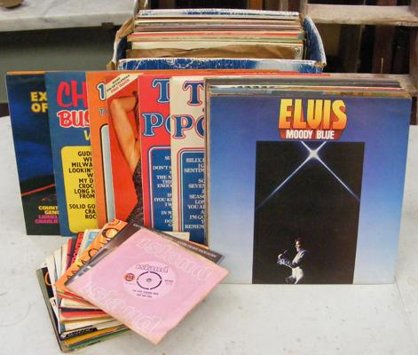 Large mixed collection of records - 78's, LP's and singles incl. Elvis, jazz etc.