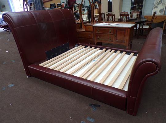Large king size sleigh bed frame