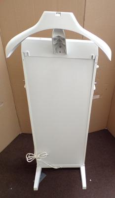 Corby trouser press/ valet stand in white - in good condition