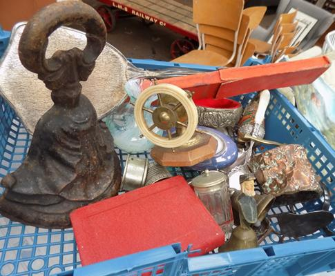 Tray of mixed collectables incl. door stop