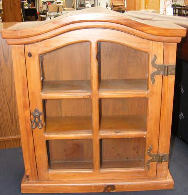 Small collectors glass fronted cabinet