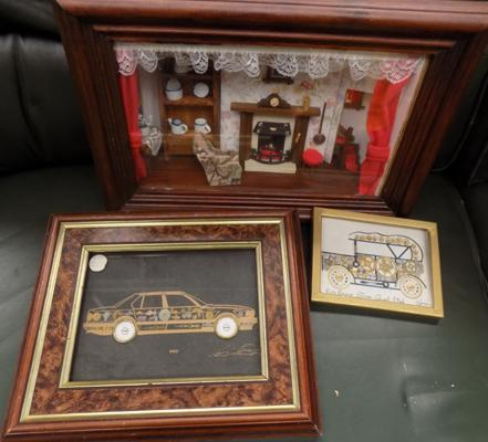 3D dolls house picture and 2 clock part pictures