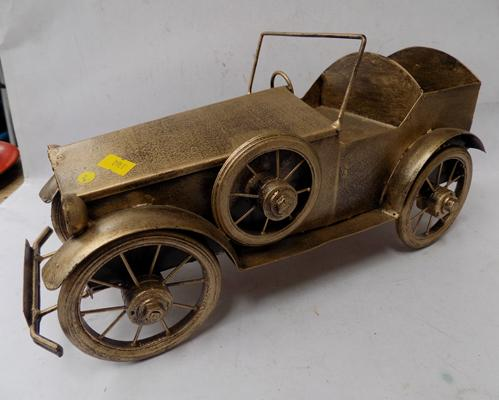 Large vintage tinplate car - 15""
