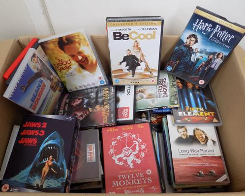 Box of DVD's incl. Harry Potter, Lord of the Rings etc.