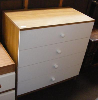 Four drawer set of bedroom drawers