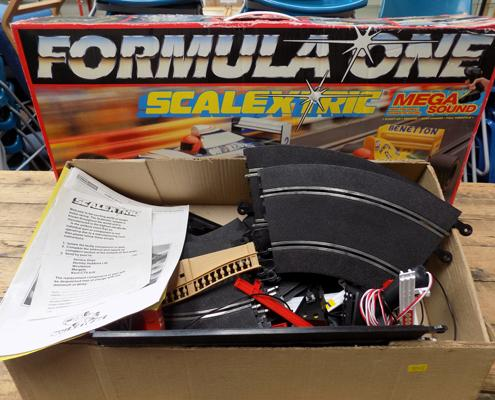 Boxed Formula One scalextric - plus accessories