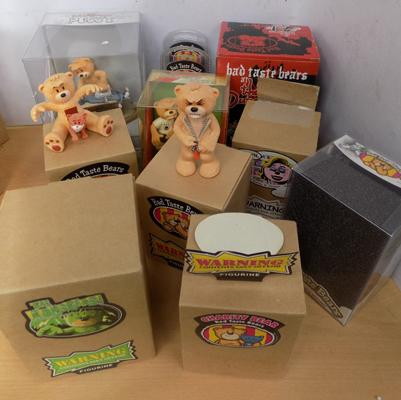 Selection of Bad Taste Bears with boxes