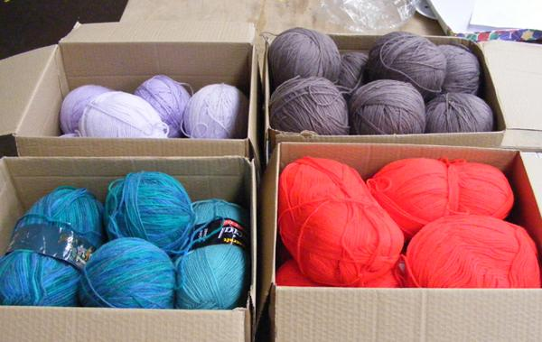 Large selection of wool