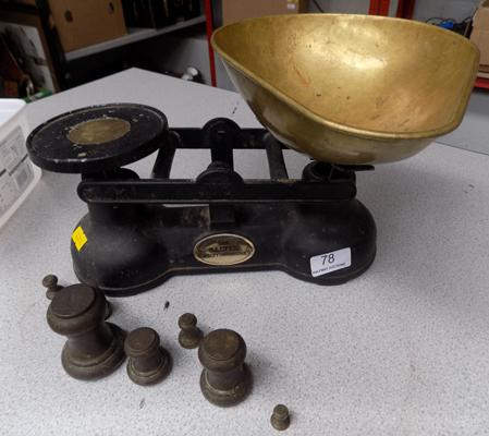 Salter scales with weights
