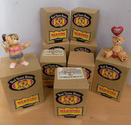 9 x boxed Bad Taste Bears