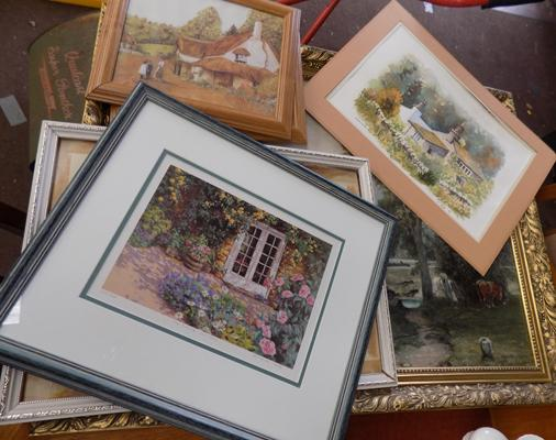 Selection of framed prints and pictures
