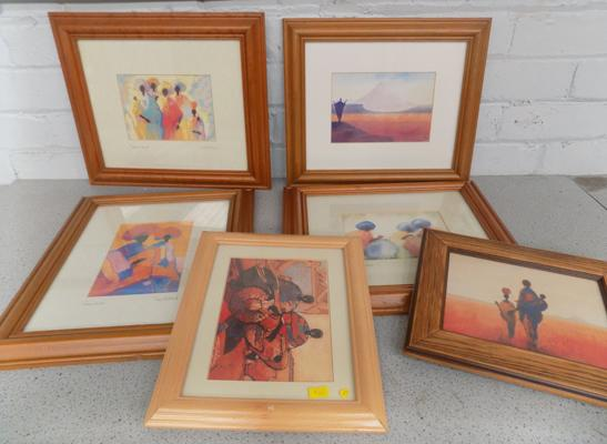 Selection of framed pictures by Tony Hudson x6