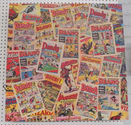 Vintage comic print on canvas