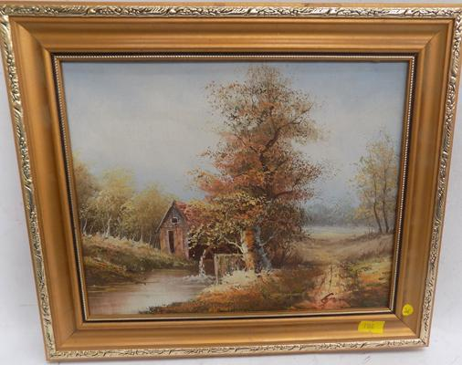 Small gilt framed original watercolour - signed by artist