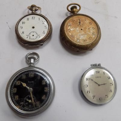 4x gent's pocket watches