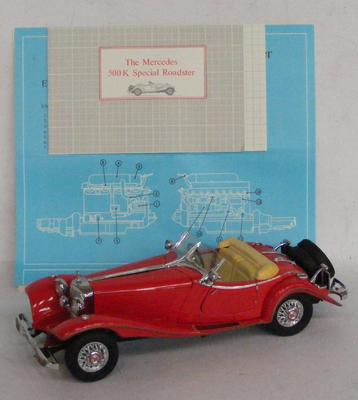 Franklin Mint Mercedes 500K, Special Roadster with certificate, no box