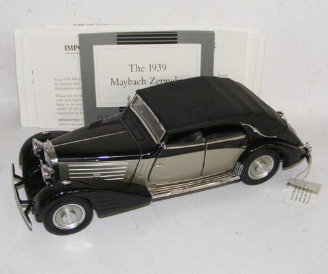 Franklin Mint 1939 Maybach Zeppelin with certificate, no box