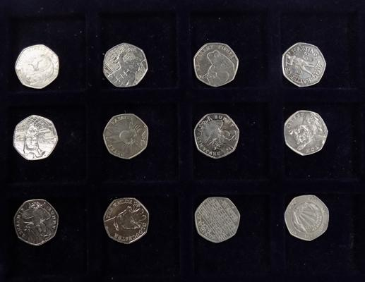 12 collector's 50p coins
