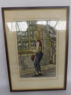 Signed print of 'Oliver is Found Again' by M. K. Horsley, 1978