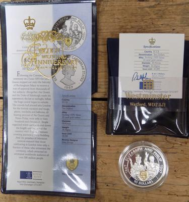 East Caribbean States silver proof $10 and certificate