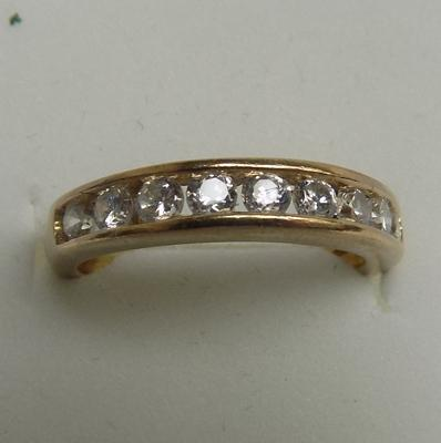 9ct gold half eternity ring, size L 1/2