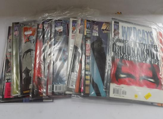 20 late 20th century unopened collector's adult comics - incl. House of Secrets in plastic covers