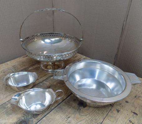 Collection of antique & vintage Walker & Hall silver plated ware