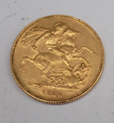 22ct gold Young Head, full Sovereign (1880)