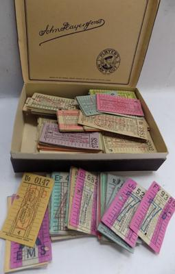 Collection of 440 London County bus tickets - 1940-50's