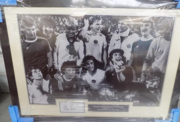 Aston Villa signed print - Allan Evans - With COA on back