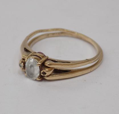 9ct gold double sided flip ring (as seen)