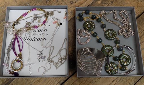 Costume jewellery incl. 925 stamped silver